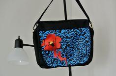 Graphically, well designed, Messenger Bag. $22.00, via Etsy.