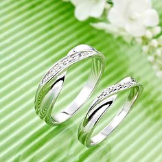 Silver Plated Twist Lover'S Ring(Assorted Size,A Pair Per Package) – GBP £ 12.86