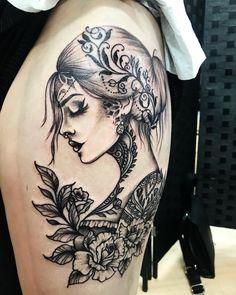 - Tattoo Ideas - # Ideas - Tattoo vorlagen - Tattoo Designs For Women Trendy Tattoos, Sexy Tattoos, Body Art Tattoos, Small Tattoos, Gypsy Tattoos, Gypsy Soul Tattoo, Gypsy Tattoo Sleeve, Tattos, 3d Tattoos