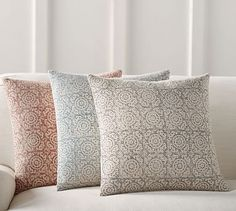 Medallion Print Pillow Cover #potterybarn #mypotterybarn