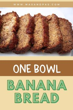 You only need one bowl for this healthy, easy banana bread recipe that will knock your socks off! It's moist, fluffy, and made without refined sugars so that you can use it as a great breakfast or snack option for your family. Bake up this easy banana bread with your kids and have a blast making a delicious, homemade recipe together! #onebowlrecipes #easybananabread #kidsbakingrecipes #bananabread Tasty Bread Recipe, Bread Recipes, Snack Recipes, One Bowl Banana Bread, Healthy Banana Bread, Baking Recipes For Kids, Baking With Kids, Healthy Meals For Kids, Kids Meals