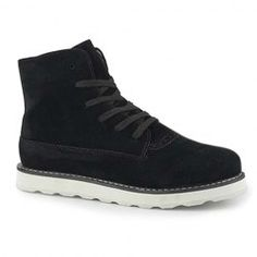 $33.49 Stylish Casual Suede Lace-Up and High Top Design Men's Combat Boots