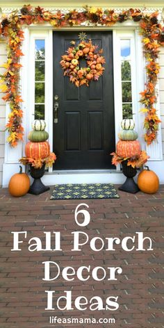 Fall is quickly approaching and although Summer has still got a few more weeks, it won't stop me daydreaming about crunchy leaves and hot apple cider. I LOVE these fall porch decor ideas- especially #1!