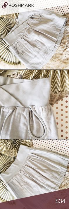 NWT BCBGENERATION Grey Pocket Skirt NWT, jersey and gauze fabric, fully lined, unique pocket design. BCBGeneration Skirts