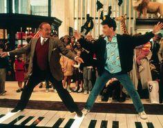 Tom Hanks and Robert Loggia. Classic scene in Big