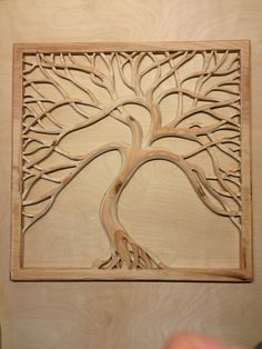 2'x2' double sided wood tree carving  Plywood  Jayscraft@gmail.com for sale at Minor Details Tacoma, Wa.