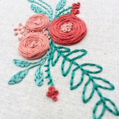 Loads of little floral stitches