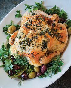 Alsatian Roast Chicken