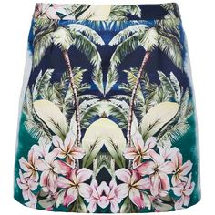 STELLA MCCARTNEY Hawaiian print mini skirt by None, via Polyvore