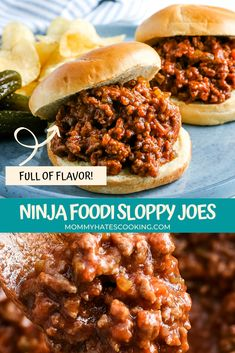 Make the best quick meal with these Ninja Foodi Sloppy Joes, perfect to make in the slow cooker or crockpot too, plus gluten-free! Ninja Recipes, Beef Recipes, Beef Meals, Pasta Recipes, Gluten Free Recipes For Dinner, Easy Dinner Recipes, Fried Potato Chips, Gluten Free Buns, Joe Recipe