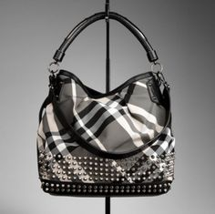 studded Burberry bag