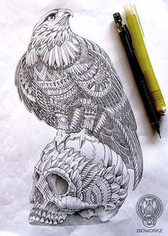 red-tail and skull BioWorkZ
