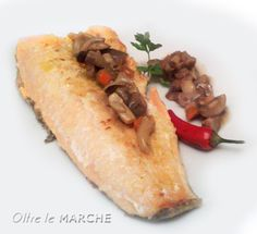 Filetti di trota ai funghi, secondi di pesce - ricetta