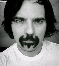 batman-bat-mustache - I'm glad I don't have bushy hair directly under my lower lip.