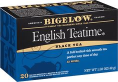 English Teatime tea from Bigelow. Find other delicious gluten free tea at bigelowtea.com.