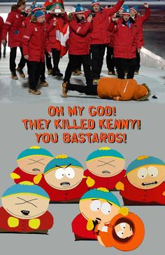 Funny pictures about Eric Cartman must've designed Sochi's coats. Oh, and cool pics about Eric Cartman must've designed Sochi's coats. Also, Eric Cartman must've designed Sochi's coats. Kenny South Park, South Park Funny, South Park Anime, South Park Fanart, South Park Quotes, South Park Memes, Funny Images, Funny Photos, Eric Cartman