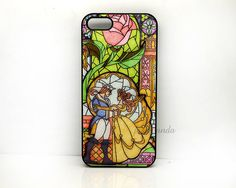 iPhone 4 Case, iPhone 4S Case, Beauty and Beast, Rose Glass, Disney iPhone Case, Plastic Phone Cases Case for iPhone 5 via Etsy