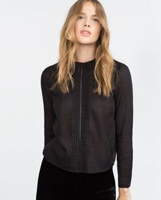 Image 2 of COMBINED LACE BLOUSE from Zara