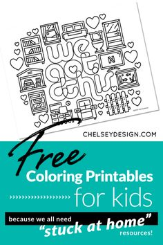 A wonderful compilation of 10 artists that are sharing their free coloring printables for kids. High quality, fun coloring pages that everyone will love! Frozen Coloring Pages, Coloring Pages For Boys, Free Coloring, Coloring Books, Coloring Sheets, Colouring, Pen Pal Letters, Simple Illustration, School Themes