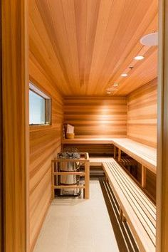 On the off chance that you need the wellbeing and health advantages of steam without heading off to the spa, at that point you can either purchase a home unit pre manufactured or make your own sauna design. It doesn't… Continue Reading → Basement Sauna, Sauna Room, House Paint Interior, Interior Design, Mansion Interior, Indoor Sauna, Sauna Design, Infrared Sauna, Saunas