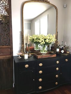 63 Super Ideas For Painting Furniture Gold Mirror Home Bedroom, Bedroom Decor, Bedrooms, Table Design, Home And Deco, My New Room, Home Decor Inspiration, Home And Living, Decoration