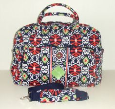 NWT Vera Bradley Weekender Sun Valley Carry On Luggage Tote Overnight Bag