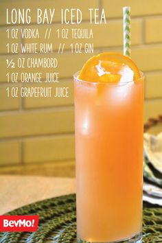 Everyone Loves A Good Mixed Drink And This Long Bay Iced Tea Is No Exception