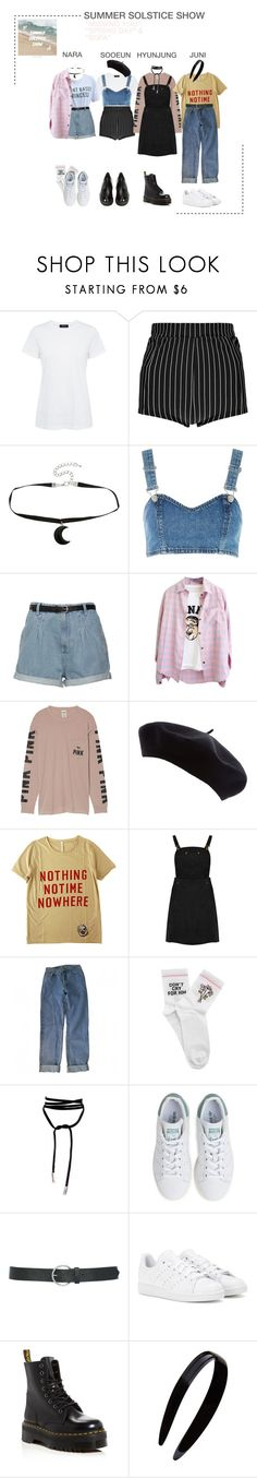 """DILAD (딜라드) RS Summer Solstice Show"" by dilad-official ❤ liked on Polyvore featuring Theory, Boohoo, Hot Topic, Topshop, Victoria's Secret, Humör, Levi's, Yeah Bunny, Lamoda and adidas"