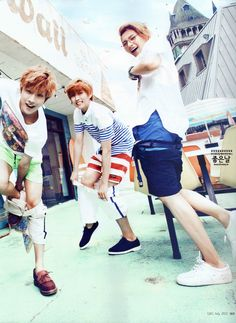 Jin Young, Sandeul, and CNU - Ceci Magazine July Issue 13