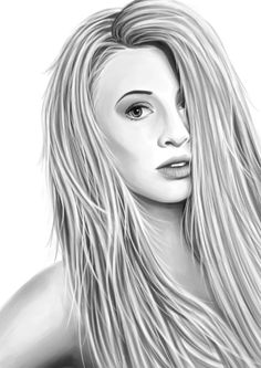 My latest #digital #realism #portrait of the #beautiful Lottie Talbot