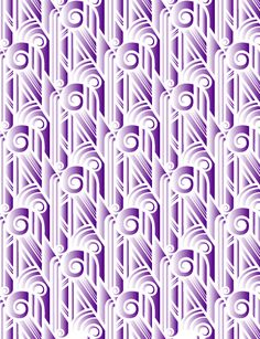 Motif by Johann Darcel, via Behance purple art deco pattern. Kind of love this.