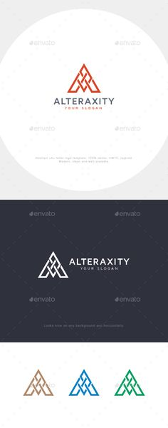 Buy A Letter Logo by asynchro on GraphicRiver. Elegant and simple letter A logo for any purpose.EPS CS and . Brochure Design, Brochure Template, Logo Templates, Logo Design Inspiration, Icon Design, Design Web, Three Letter Logos, Architecture Business Cards, Industry Logo