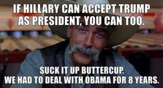 Exactly! And none of us rioted or burned flags
