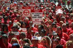 Verizon wireline workers authorize strike amid contract negotiations - TODAY ONLINE #Verizon, #Strike, #Business