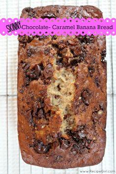 Skinny Chocolate- Caramel Banana Bread - RecipeGirl.com
