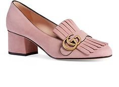 Gucci Marmont Suede Pumps - Heels - 505169386