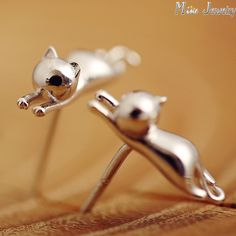 925 Sterling Silver Cat Stud Earrings Animal Small Cat Earrings For Women Jewelry Only $3.41 => Save up to 60% and Free Shipping => Order Now! #Earrings #Rings #Handmade #Silver Jewelry #Pandora Bracelets #Nature Stone Jewelry #Jewelry #Necklaces #Bracelets