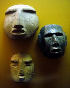 Mezcala style masks and heads  Pre-Columbian Mexico
