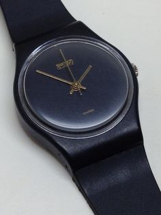 Vintage Ladies Swatch Watch Black Magic by ThatIsSoFunny Swatch, Black Opal, Black Magic, Watch Sale, Summer Collection, Vintage Ladies, Two By Two, Memories, Band