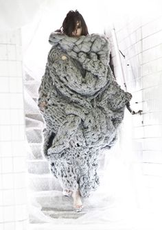 Oh my Lord - a knitted cocoon dress... when you take it off you're a new woman! I love this blog!!