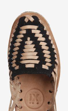 Ix Style Black Huarache Sandals