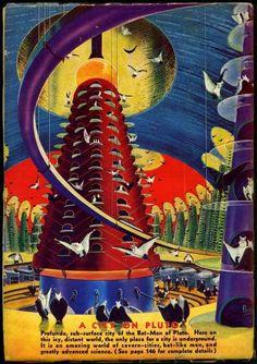 """Frank R. Paul - """"A City on Pluto"""""""
