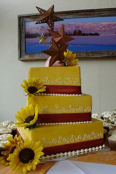 yellow sunflower cake