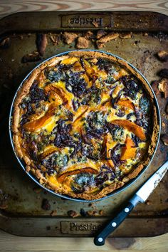 Roast Squash, Blue Cheese & Thyme Tart... Perfect autumn recipe utilising seasonal ingredients. | DonalSkehan.com