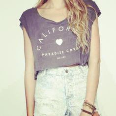 Crop tops with high waisted shorts