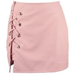 Boohoo Sofia Lace Up Side Leather Look Mini Skirt | Boohoo ($19) ❤ liked on Polyvore featuring skirts, mini skirts, pleated skirt, pleated midi skirt, pink maxi skirt, circle skirt and short mini skirts