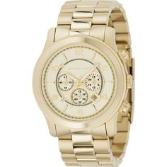 Michel Kors MK8077 Gold-Plated Chronograph Watch