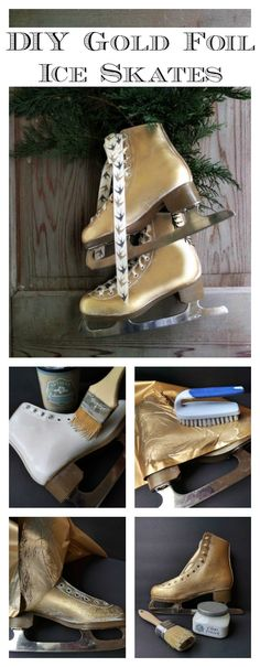 Gold Foil Ice Skate Tutorial on The Artisan Enhancements Blog!