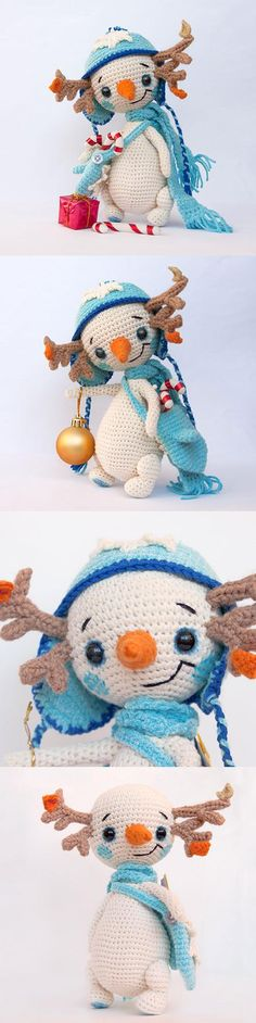 Is this not the most adorable snowmena ever???? Snowman Lu Amigurumi Pattern