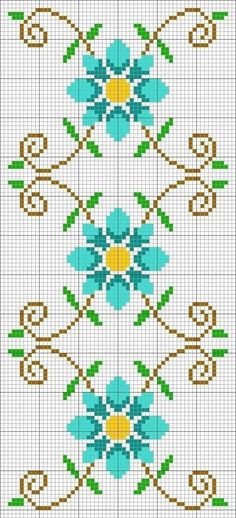 This unique photo is seriously a remarkable style approach. Cross Stitch Borders, Cross Stitch Flowers, Cross Stitch Charts, Cross Stitch Designs, Cross Stitching, Cross Stitch Embroidery, Cross Stitch Patterns, Loom Patterns, Beading Patterns